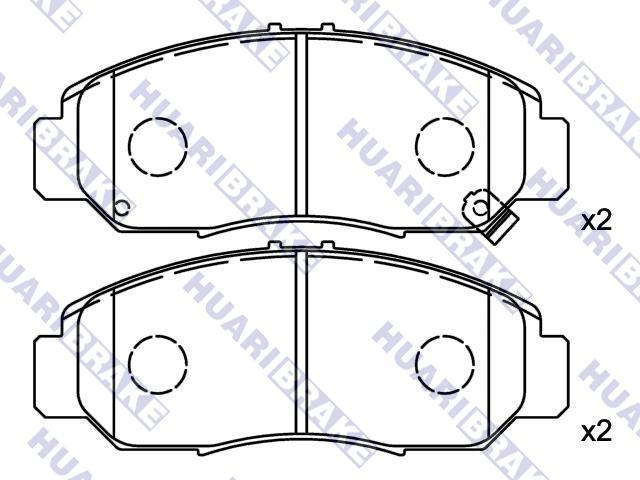 Rear Delphi Brake Pads Full Axle Braking Set Honda FR-V 1.7 1.8 2.0 2.2i CTDI