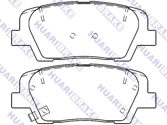 Brake Pad Set:58302-C6A00
